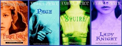 bookcovers of the PROTECTOR OF THE SMALL series by Tamora Pierce