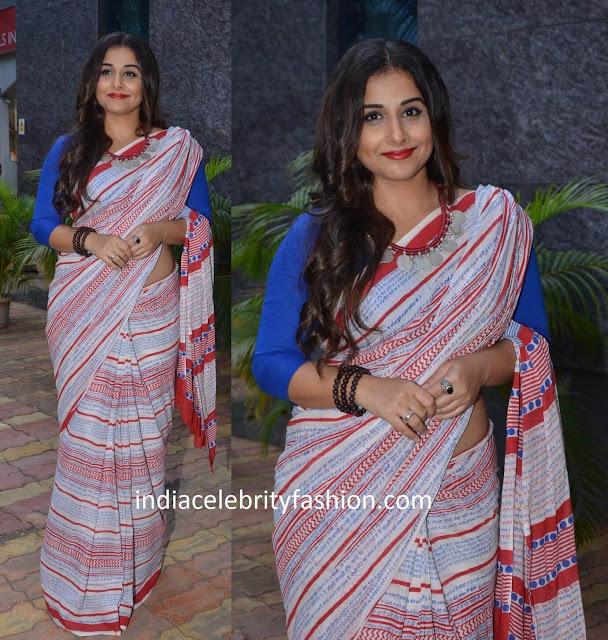 Vidya Balan in Printed Saree