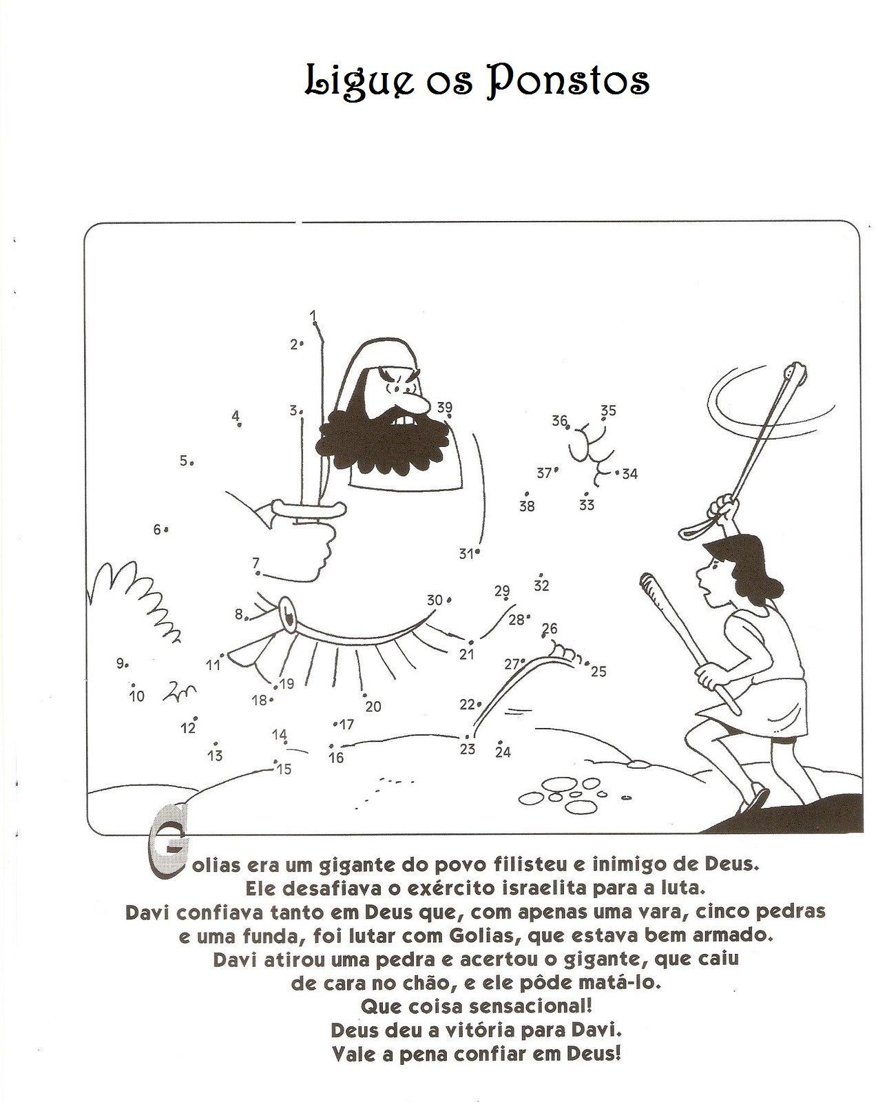 Well-known Catequese com Carinho: Davi - Atividades DQ58