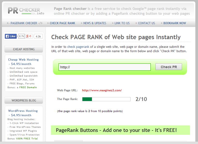 PR website checker by maxginez3.com