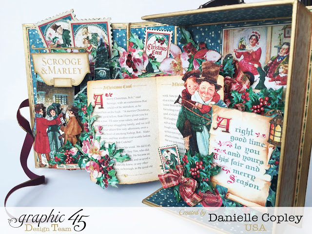 scrapbookmaven.com Christmas Carol Pop-up Shadow Box Graphic 45