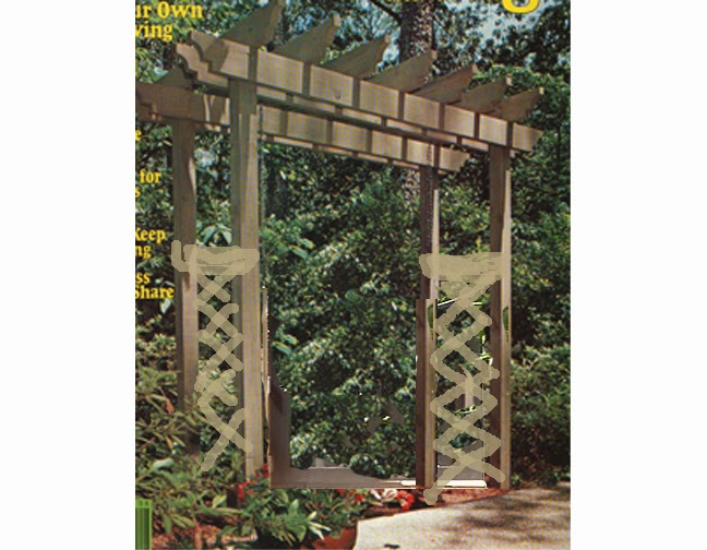 Our Dream Home In Naples Wood Arbor Trellis Or Sculpture