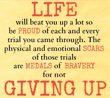 Life Quotes And Sayings In Life's Trial Never Give Up And Be A Winner Fascinating Never Give Up On Life Quotes