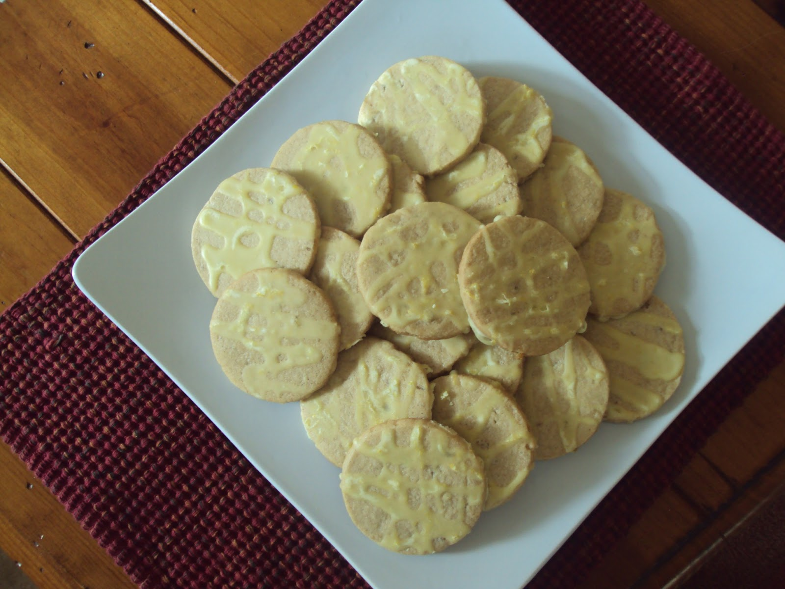 Friendship, Life and Style: Lemon Glazed Candied Ginger Cookies