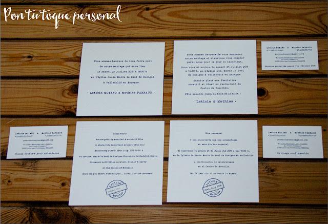 invitacion boda diferentes idiomas