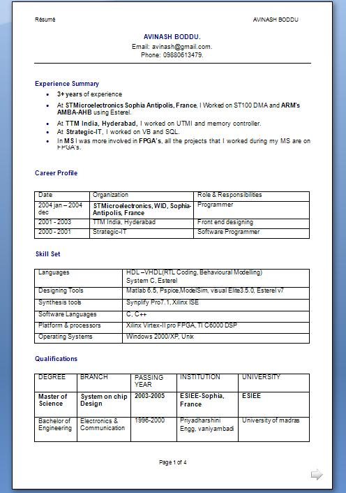 professional resume templates 2013