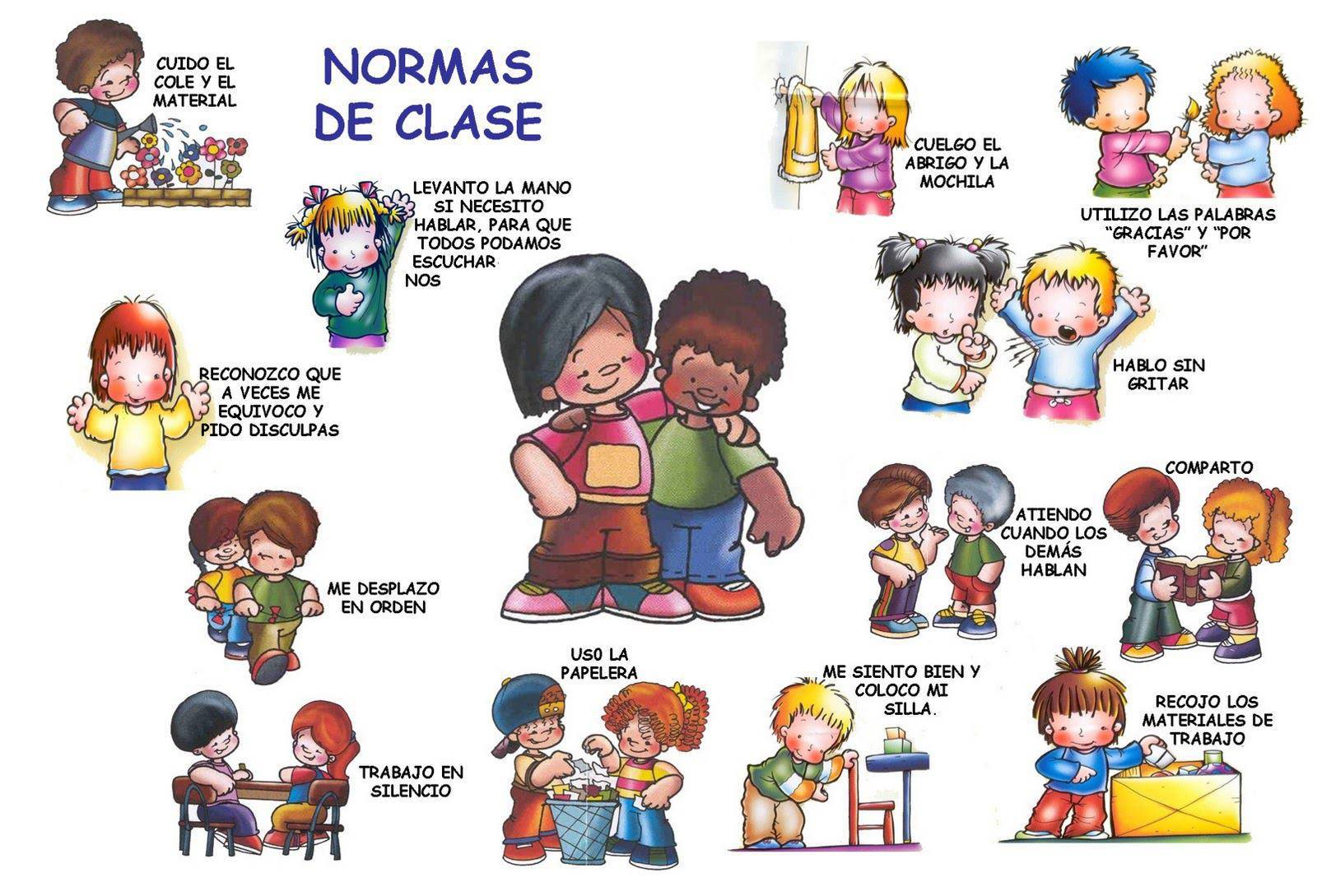 Infantil la clase de reli normas para la clase for Actividades en el salon de clases