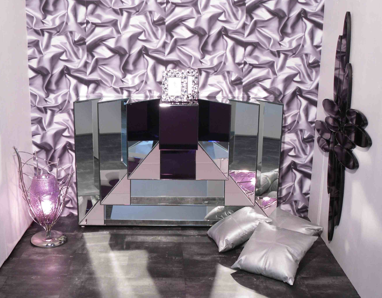 deco chambre noir violet. Black Bedroom Furniture Sets. Home Design Ideas
