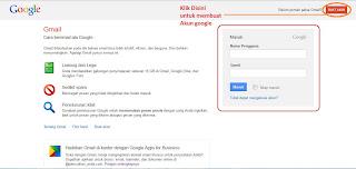 masuk atau daftar akun google mail