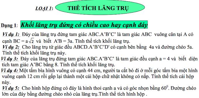 chuyen de the rich lop 12, car dang toan high hoc 12