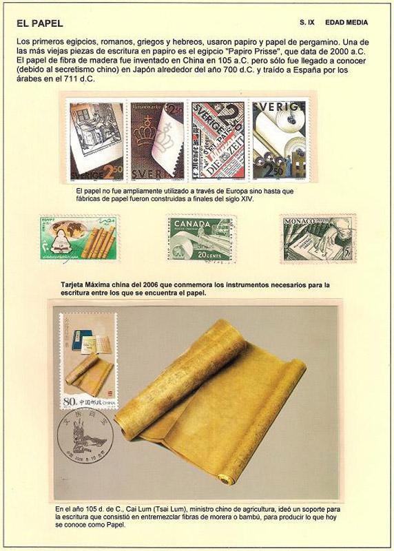 Colección filatélica: Principio y fin de una cultura, el papel impreso