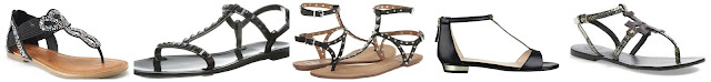Candie's Embellished T-Strap Sandals $24.99 (regular $49.99)  Rebecca Minkoff Sasva Jelly Sandal $36.99 (regular $98.00)  DV by Dolce Vita Atara $41.99 (regular $79.00)  Nine West Ukie T-Strap Flat Sandals $51.75 (regular $69.00)  Tory Burch Chandler Leather Sandal $174.96 (regular $250.00)