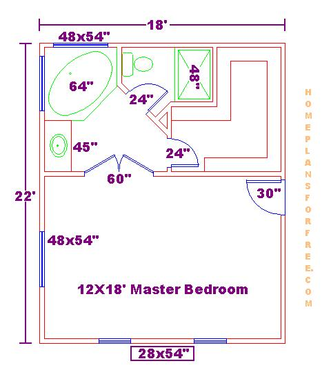 The chu 39 s sweet home floor plan at three stages Master bedroom bathroom layout