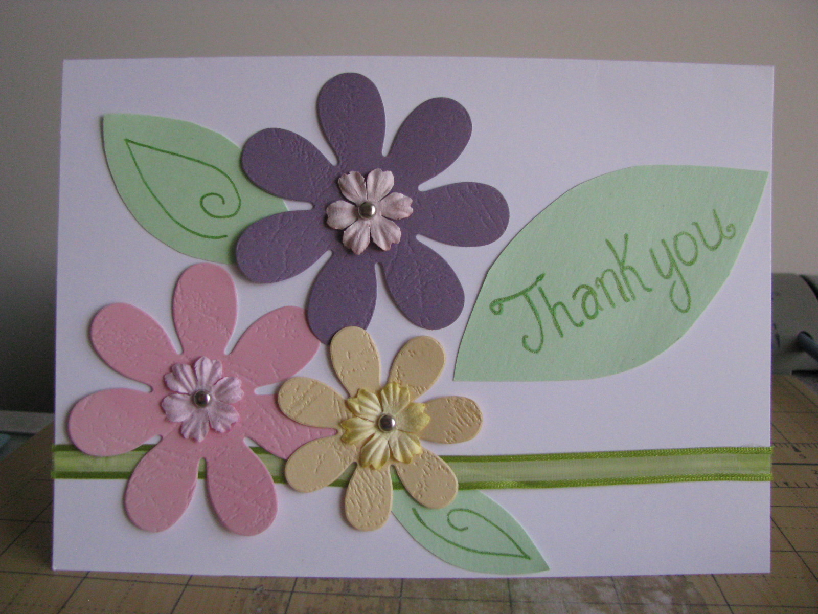 Thank You Card A Simple And Fast Handmade Card Friend Sister