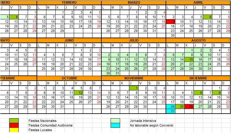 2015 Calendario Juliano