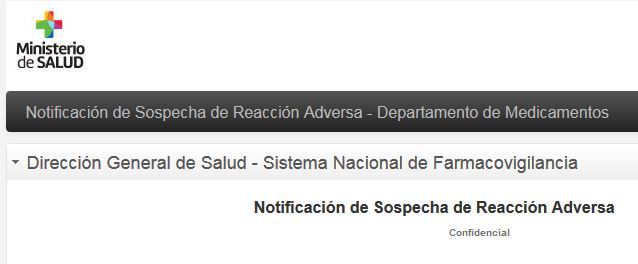 Notificación de Sospecha de Reacción Adversa
