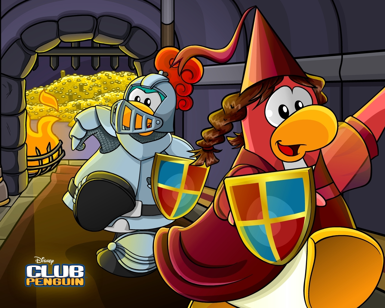 Show me more club penguin epf colouring pages - Club Penguin Has Released A New Medieval Wallpaper Check It Out