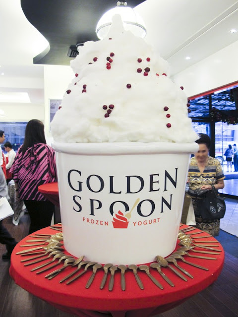 Giant Golden Spoon Frozen Yogurt at Shangri-La Plaza