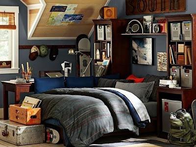 dormitorio juvenil hombre gris