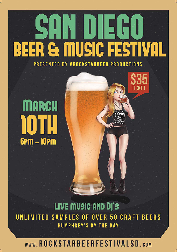 Promo code SDVILLE saves $5 per ticket to the San Diego Beer & Music Festival - March 10!