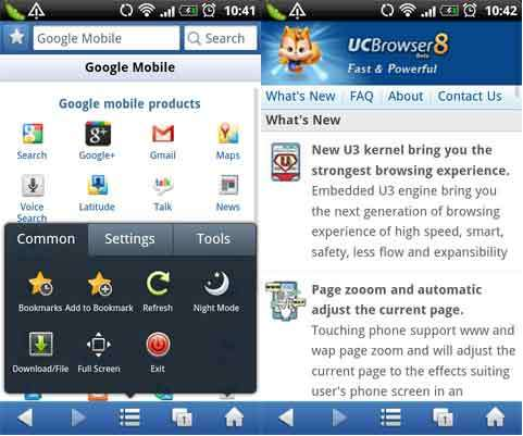 surf gratuit orange avec Uc Browser