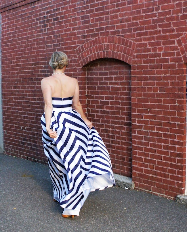 Jessica Simpson strapless fit and flare ball gown, what to wear to a formal wedding