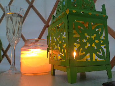 Acorn Glade - glamping in Yorkshire, Daisy Yurt candles