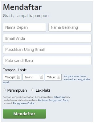 step 1 create facebook account