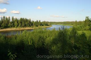Следы геологоразведки, река Шапкина