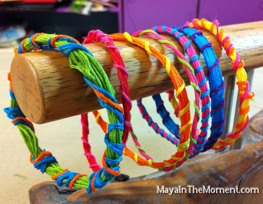how to make a friendship bracelet embroidery floss