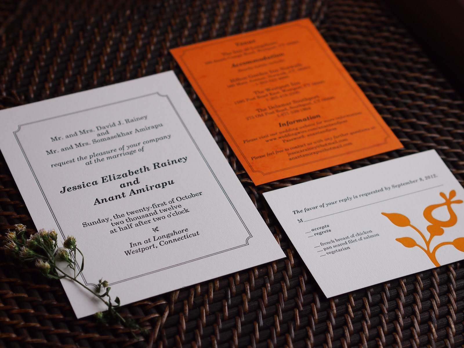 Erin B Dewalt : Wedding Invitations: Jessica & Anant\'s Simple Elegance