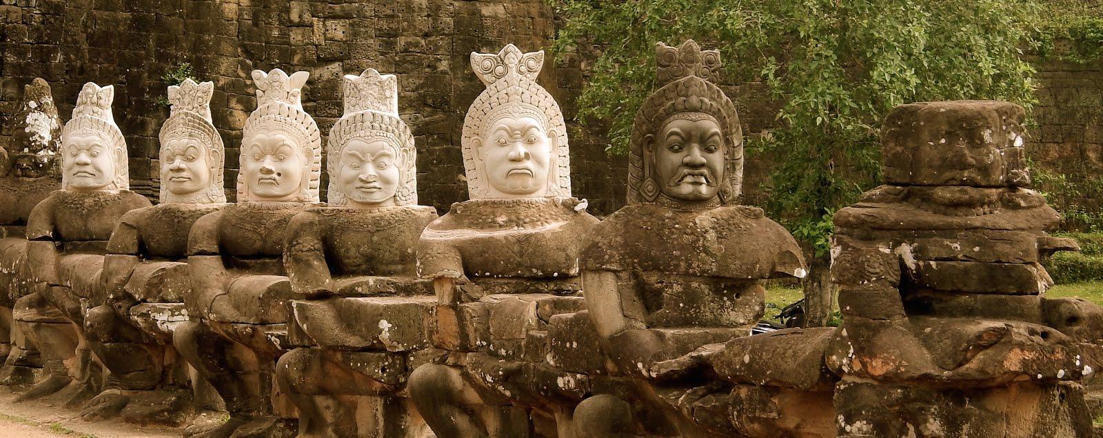 Faces of Bayon Temple, Cambodia
