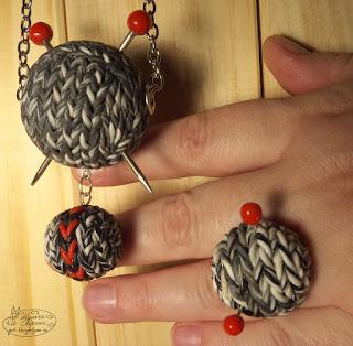эксклюзивный браслет, комплект кольцо кулон браслет, имитация вязки