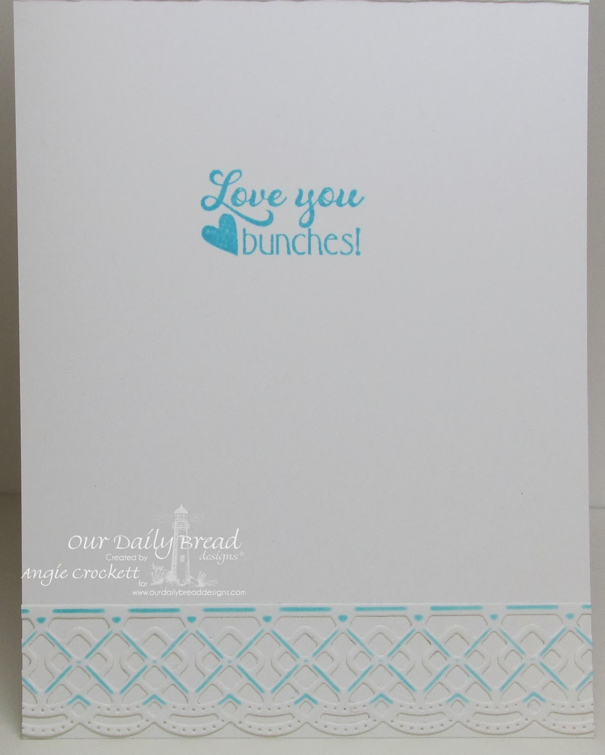 ODBD Love you Bunches, ODBD Custom Beautiful Borders Die Set, Card Designer Angie Crockett