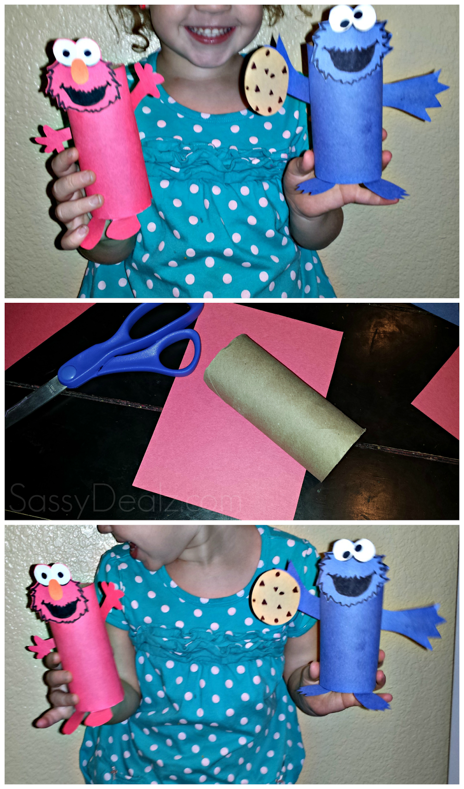 toilet paper roll crafts for kids elmo cookie monster