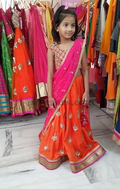 Baby Half Saree by Mrunalini Rao