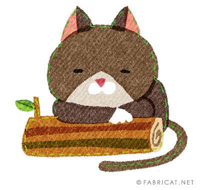 ぼーっとしている可愛い猫のイラスト