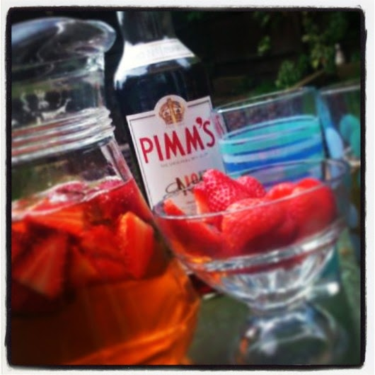 Pimms, alcohol, drink, strawberries, lemonade, garden, summer, my life my son my way,