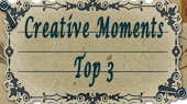 I made the top 3 at Crafty Moments