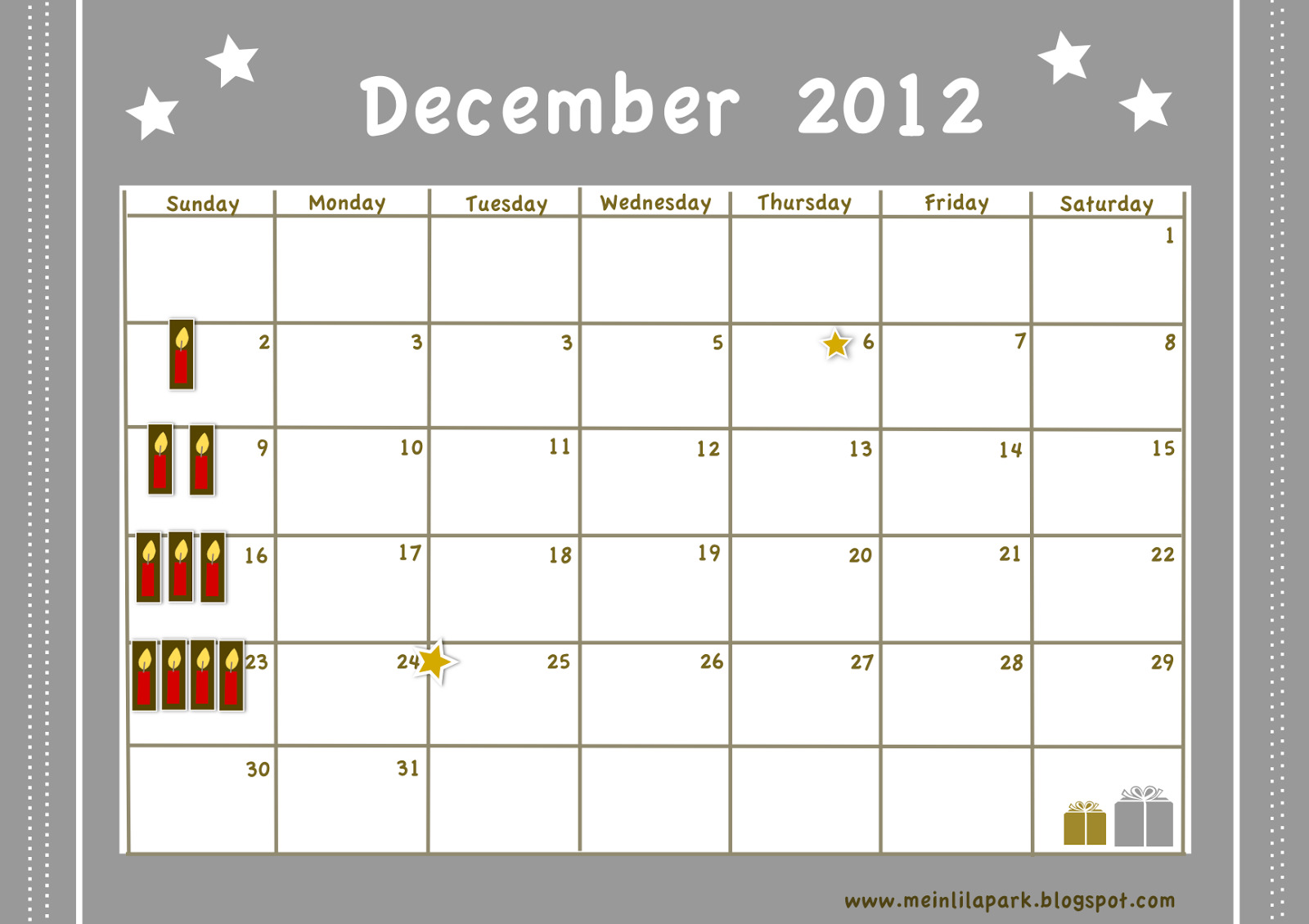 free printable december 2012 calendar planner ausdruckbarer dezember kalender freebie. Black Bedroom Furniture Sets. Home Design Ideas