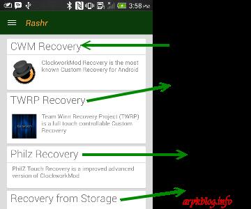 Flash Custom ROM Android Using Rashr