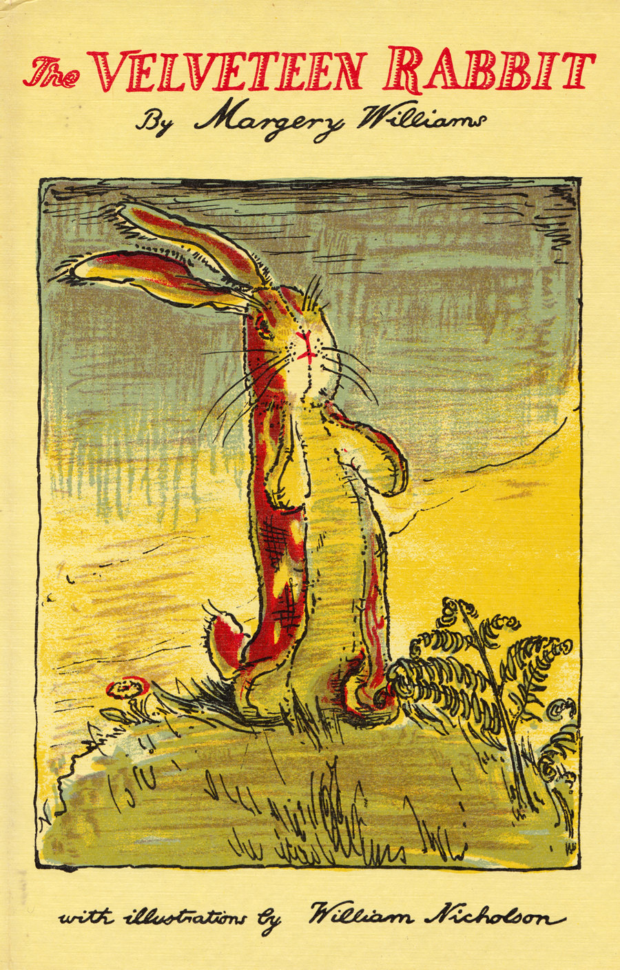 velveteen rabbit There was once a velveteen rabbit, and in the beginning he was really splendid he was fat and bunchy, as a rabbit should be his coat was spotted brown and white, he had real thread whiskers, and his ears were lined with pink sateen.