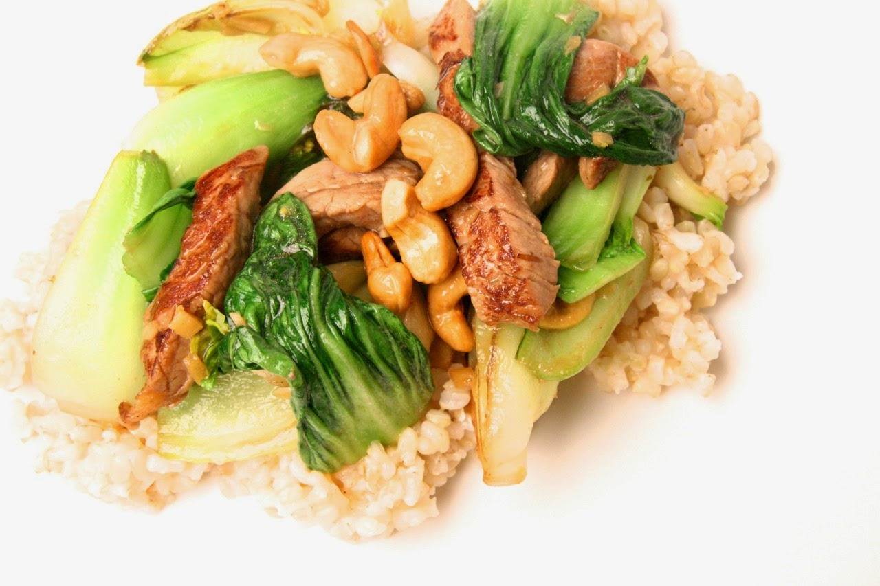 Baby Bok Choy With Cashews Recipe — Dishmaps