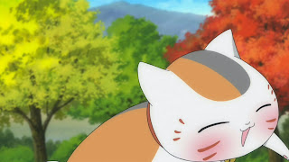 Pijany kot Nyanko-sensei z wypiekami na twarzy