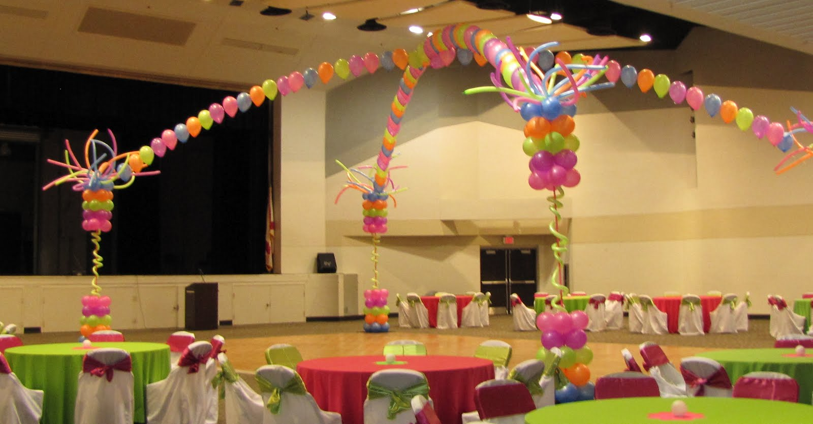 Neon Colors Sweet 16 Party Decorations