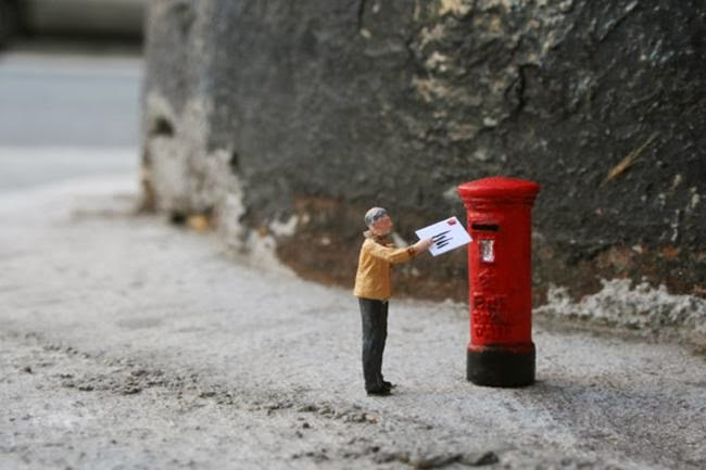 "Slinkachu street art ""little people"""