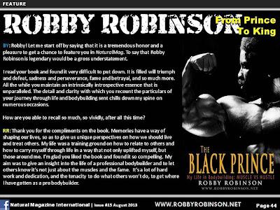 ROBBY'S BLACK PRINCE BOOK ▶ www.robbyrobinson.net/books.php
