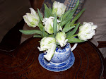 French Tulips in Blue and White