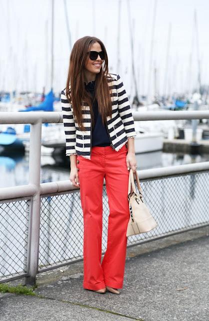 calca cintura alta  vermelha
