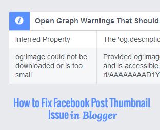 facebook post thumbnail blogger